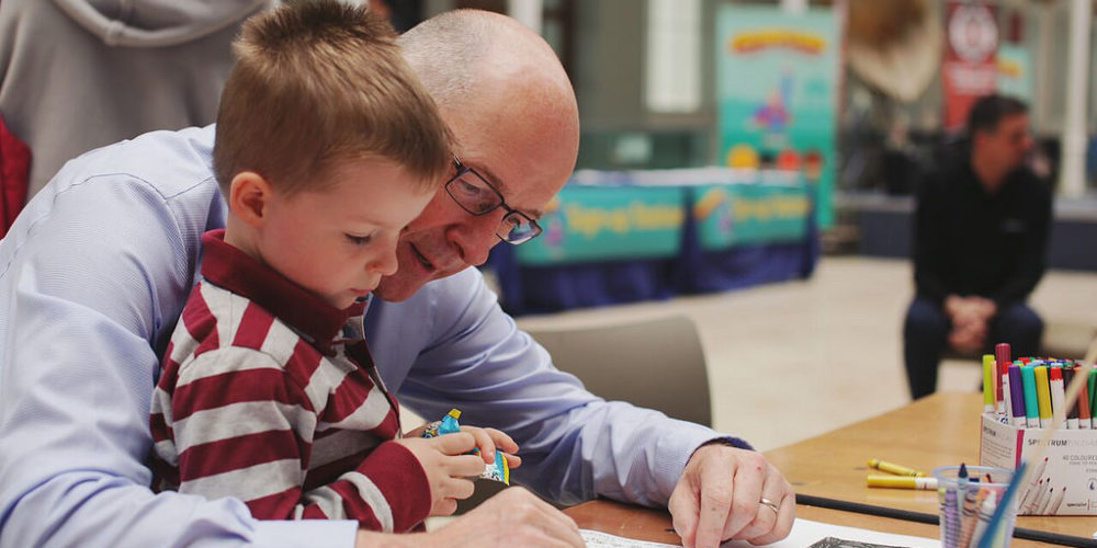 John Swinney, Scottish education secretary, in classroom