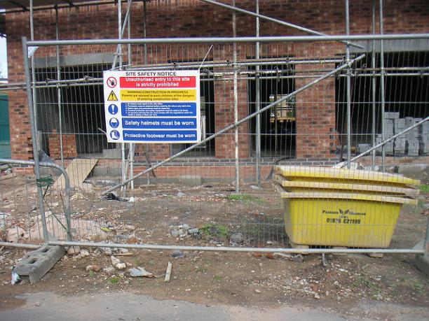 Building site, Picture courtesy of Lee Haywood