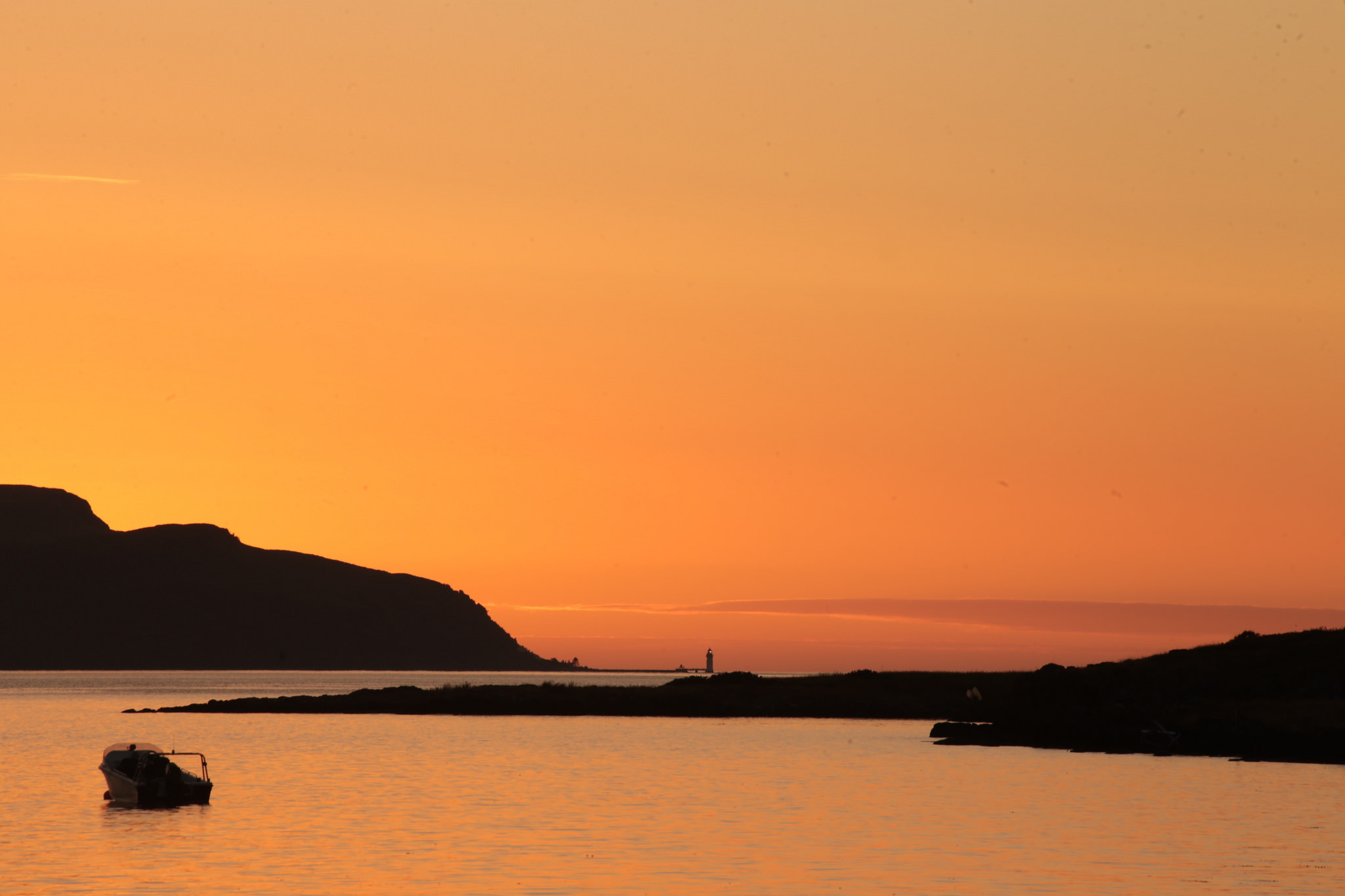 Looking towards Tobermory from Morvern Peninsula at sunset. Picture by Henry Hemming CC By 2.0