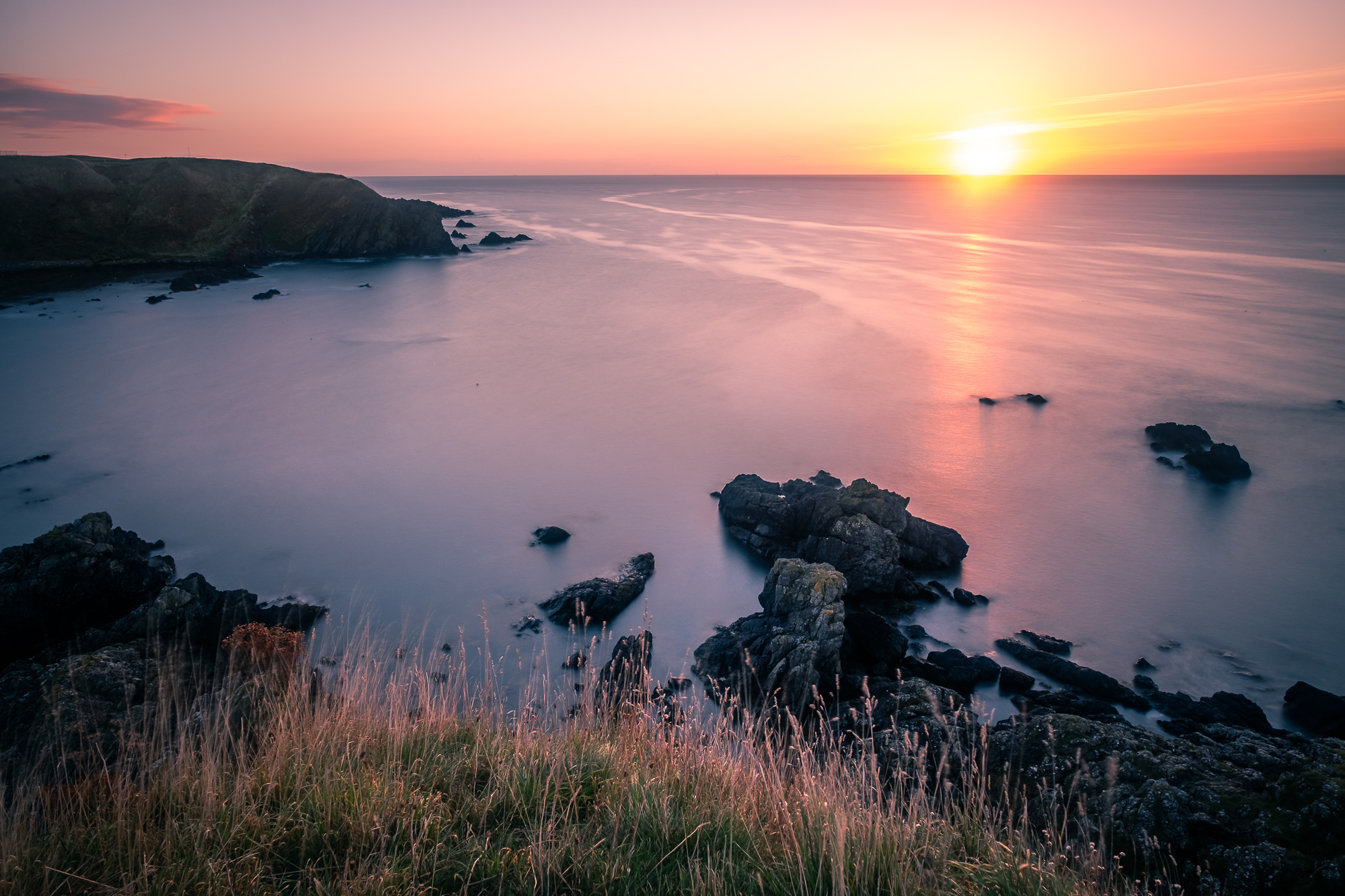 Rising sun seen from Stonehaven, image by Giuseppe Milo, Creative Commons CC By.20