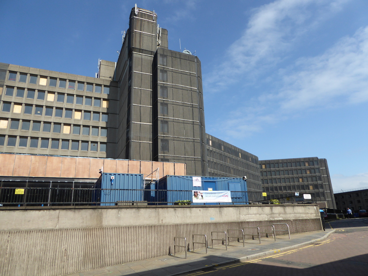 The former New St Andrew House. The gaunt, grey brutalist look of the 1960s